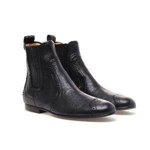 Balenciaga Distressed Leather Chelsea Boot